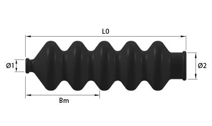 Dibujo técnico - Fuelles de goma