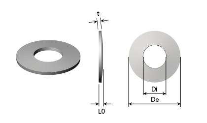 Dibujo técnico - Arandelas de platillo - Acero inoxidable