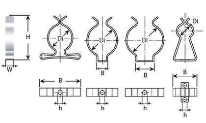 Dibujo técnico - Clips fleje sujeción