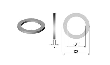 Dibujo técnico - Arandelas de soporte & Arandelas de ajuste